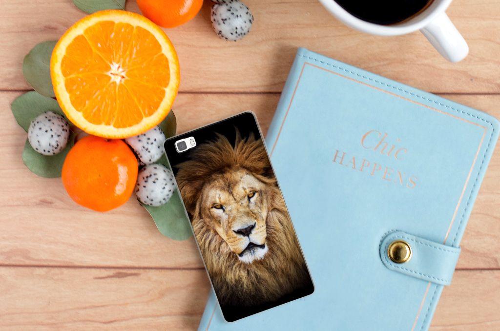 Huawei Ascend P8 Lite TPU Hoesje Design Leeuw