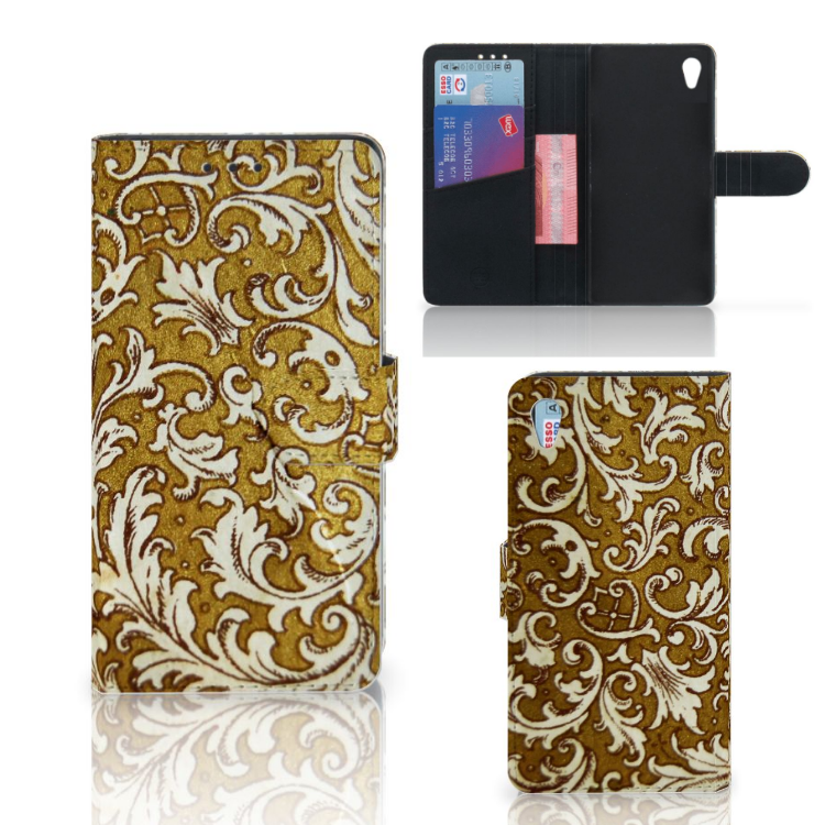 Wallet Case Sony Xperia Z3 Barok Goud