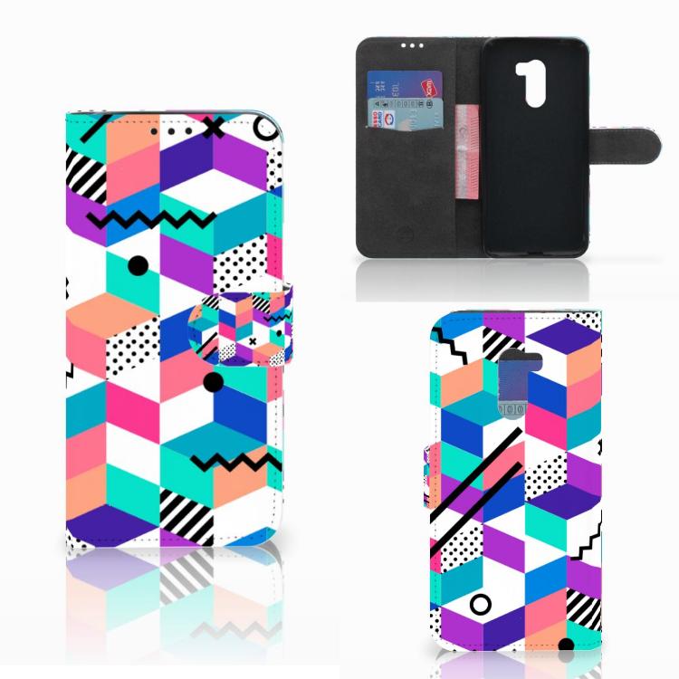 Xiaomi Pocophone F1 Bookcase Blokken Kleurrijk