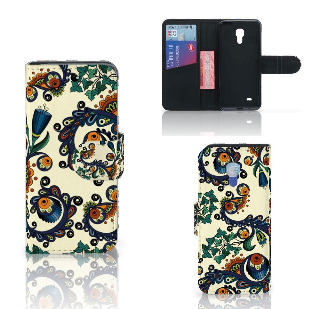 Wallet Case Samsung Galaxy S4 Mini i9190 Barok Flower