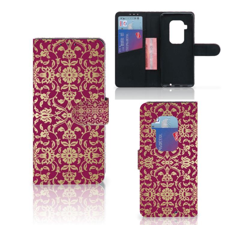 Wallet Case Motorola One Zoom Barok Pink
