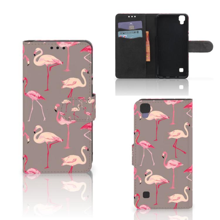 LG X Style Telefoonhoesje met Pasjes Flamingo