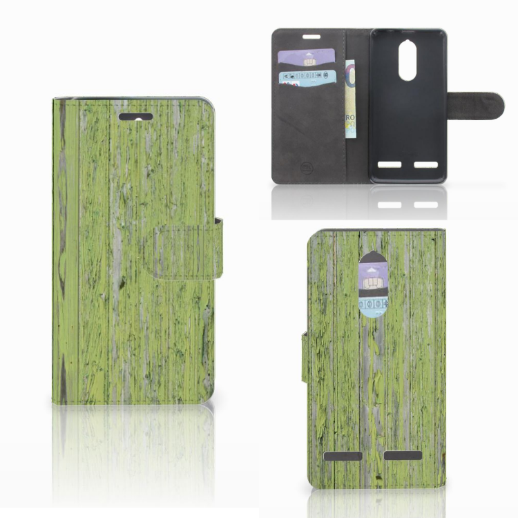 Lenovo K6 Boekhoesje Design Green Wood