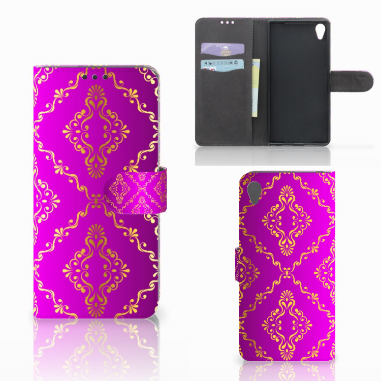 Wallet Case Sony Xperia Z5 Premium Barok Roze