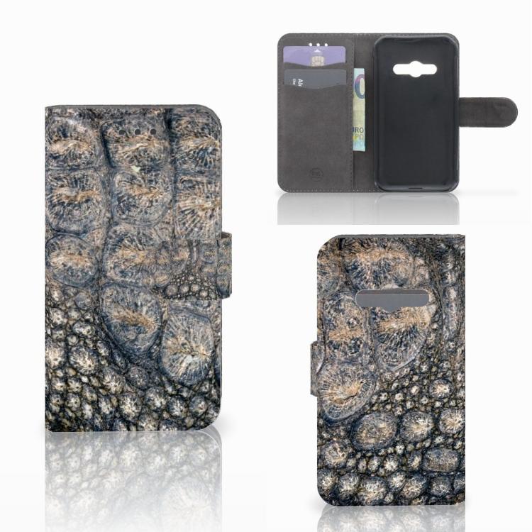 Samsung Galaxy Xcover 3 | Xcover 3 VE Telefoonhoesje met Pasjes Krokodillenprint