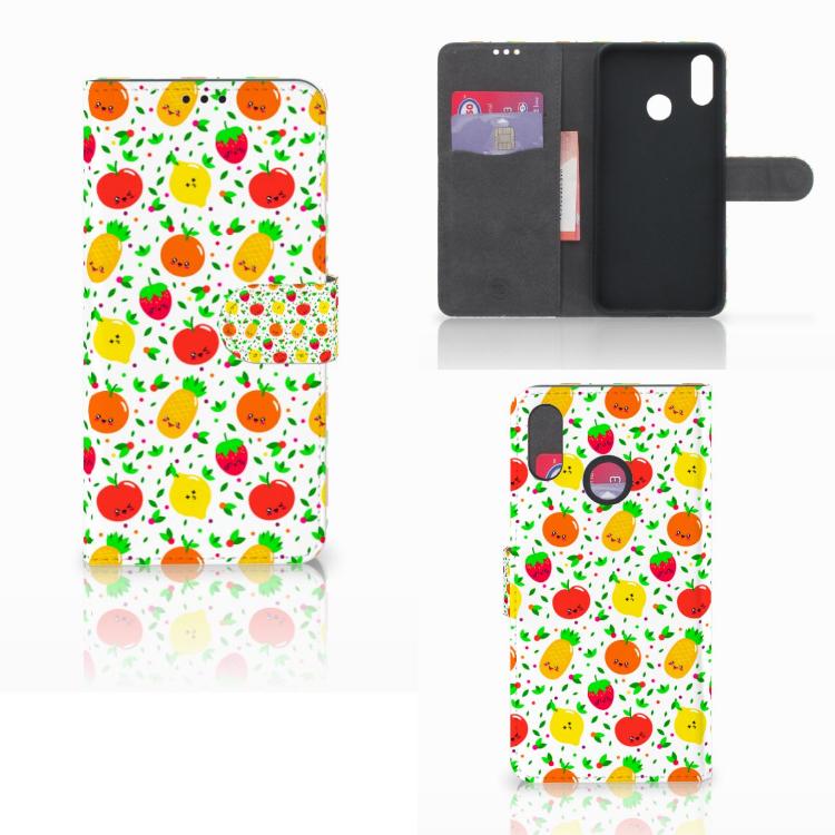 Huawei P Smart Plus Book Cover Fruits