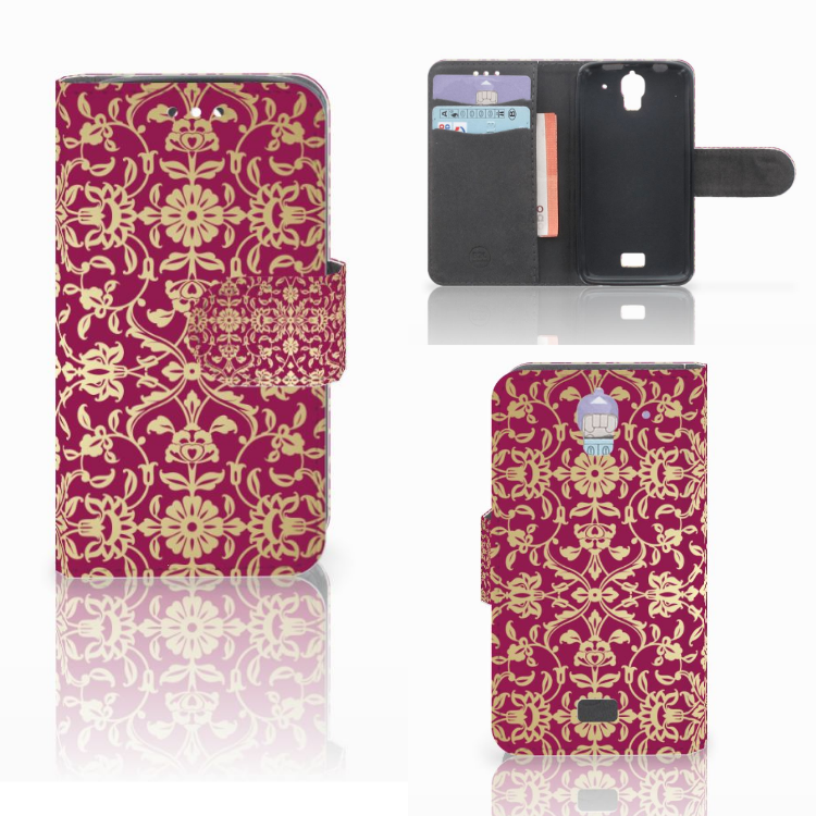 Wallet Case Huawei Y360 Barok Pink