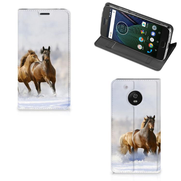 Motorola Moto G5 Hoesje maken Paarden
