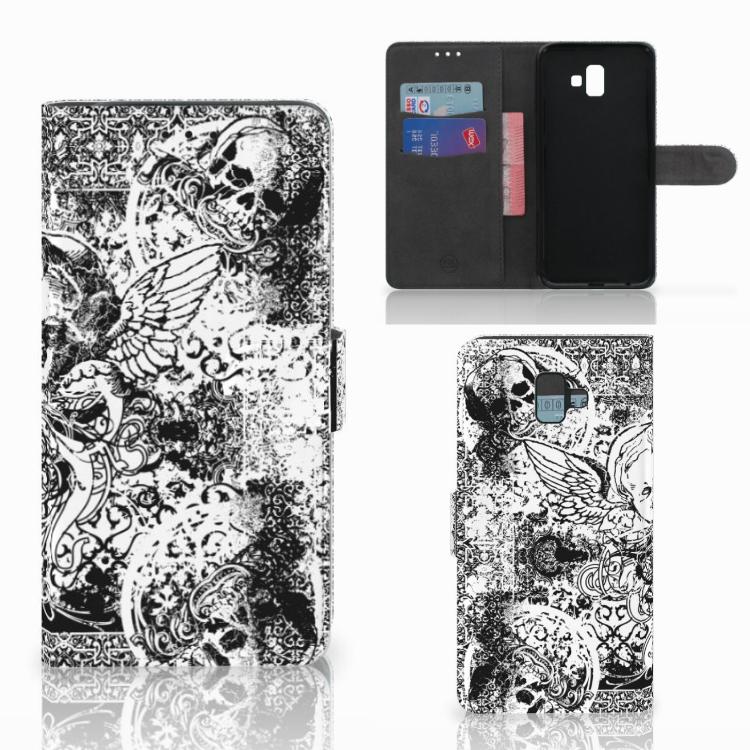 Telefoonhoesje met Naam Samsung Galaxy J6 Plus (2018) Skulls Angel