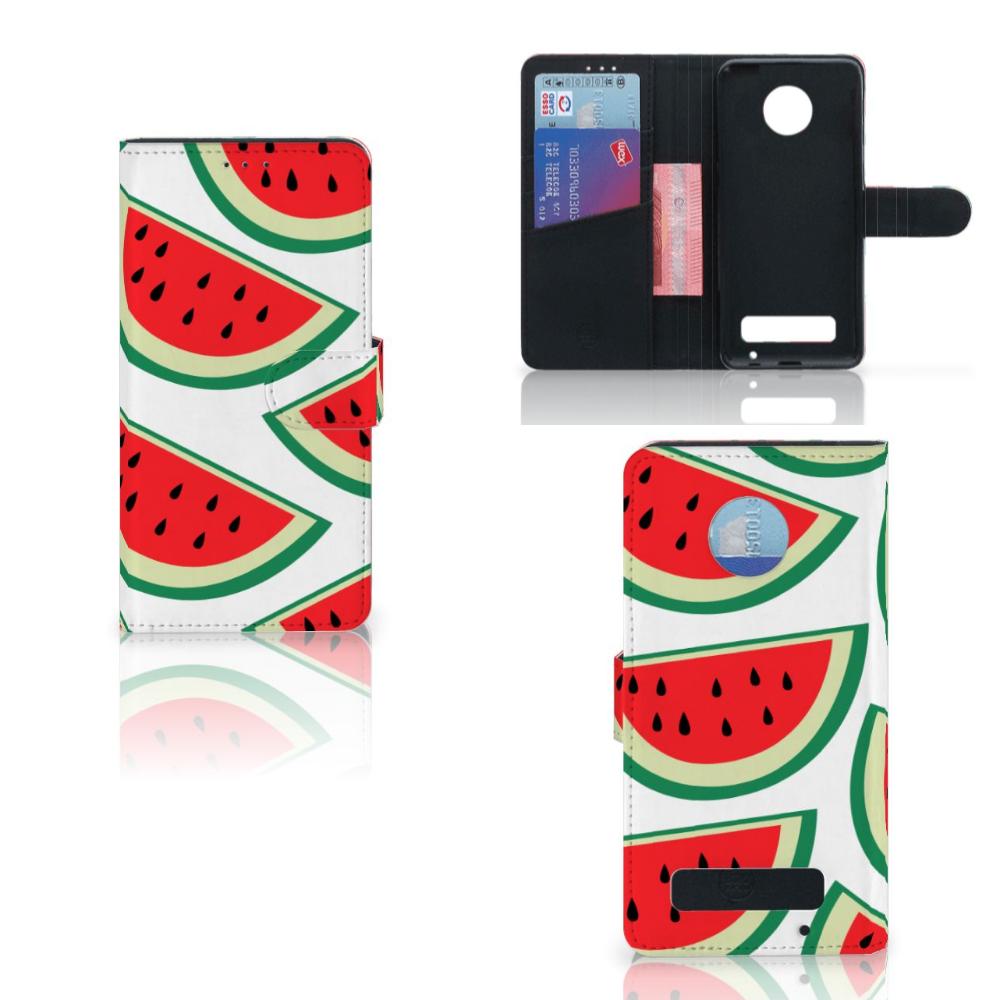 Motorola Moto Z Play Book Cover Watermelons