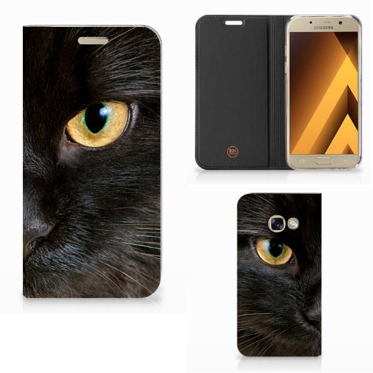 Samsung Galaxy A3 2017 Hoesje maken Zwarte Kat