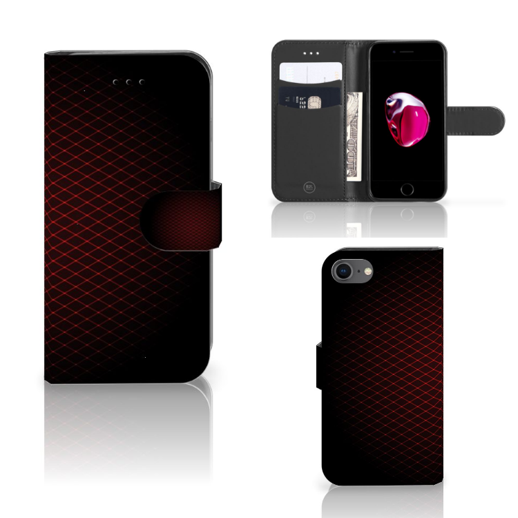 Apple iPhone 7 | 8 Telefoon Hoesje Geruit Rood