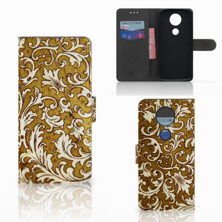 Wallet Case Motorola Moto E5 Plus Barok Goud