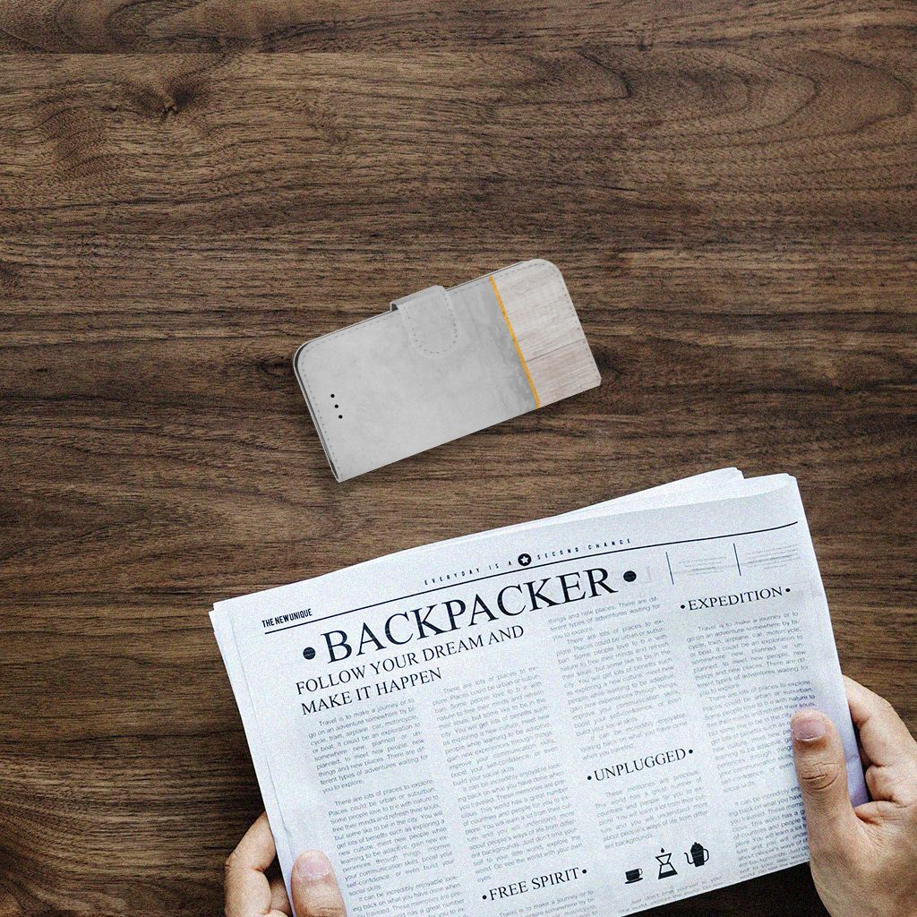 iPhone 7 | 8 | SE (2020) Book Style Case Wood Concrete