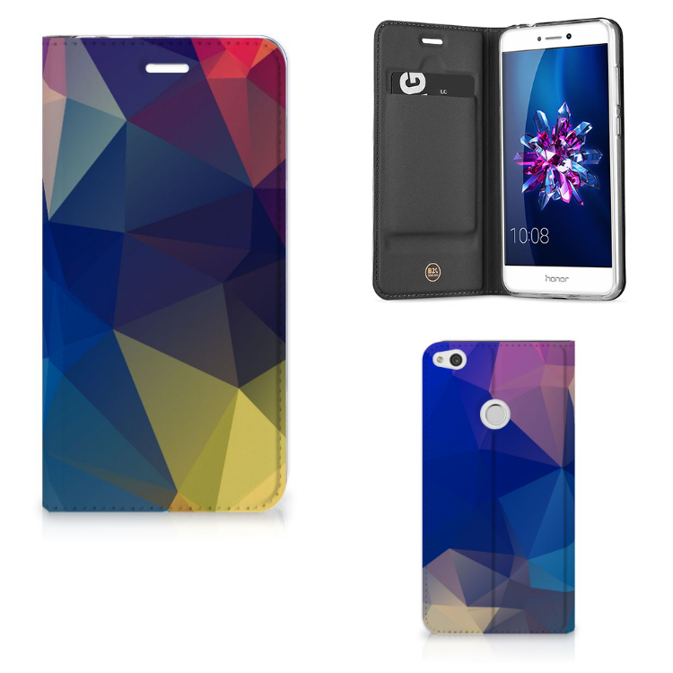 Huawei P8 Lite 2017 Stand Case Polygon Dark