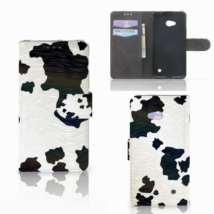 Microsoft Lumia 640 Telefoonhoesje met Pasjes Koeienvlekken