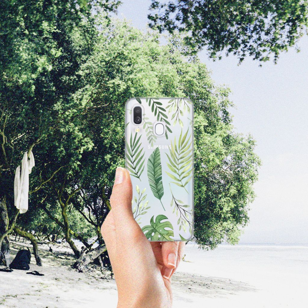 Samsung Galaxy A40 TPU Case Leaves
