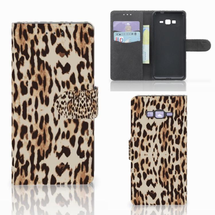 Samsung Galaxy Grand Prime | Grand Prime VE G531F Telefoonhoesje met Pasjes Leopard