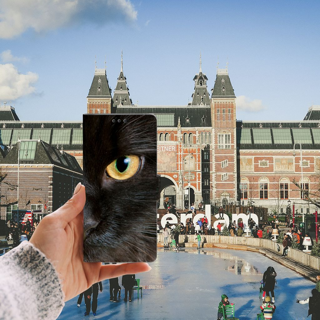 Sony Xperia XA Ultra Uniek Boekhoesje Zwarte Kat