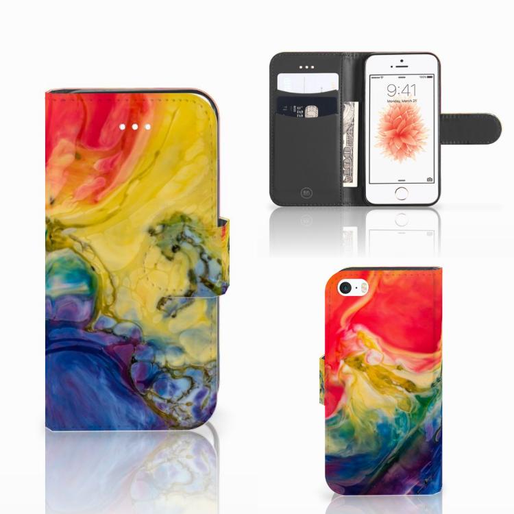 Hoesje Apple iPhone 5 | 5s | SE Watercolor Dark