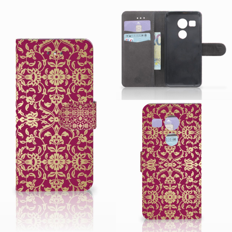 Wallet Case LG Nexus 5X Barok Pink