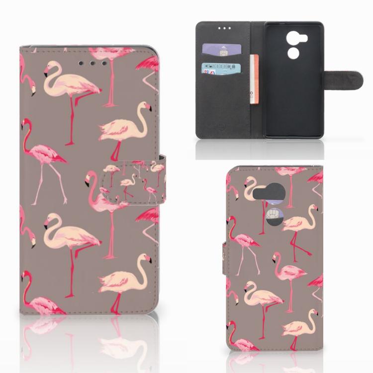 Huawei Mate 8 Telefoonhoesje met Pasjes Flamingo