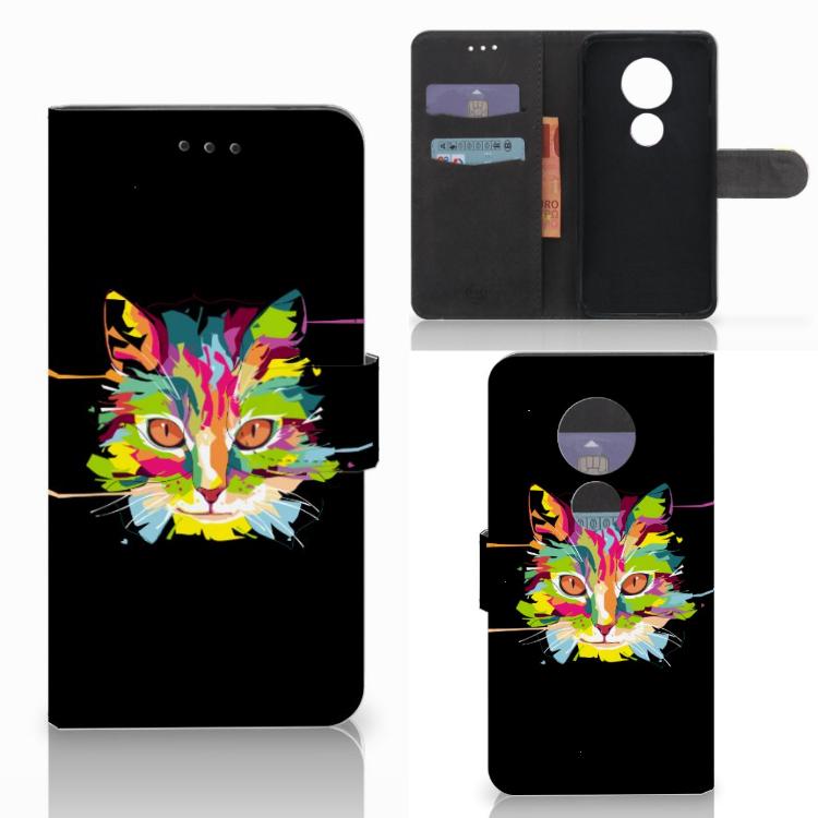 Motorola Moto E5 Play Leuke Hoesje Cat Color