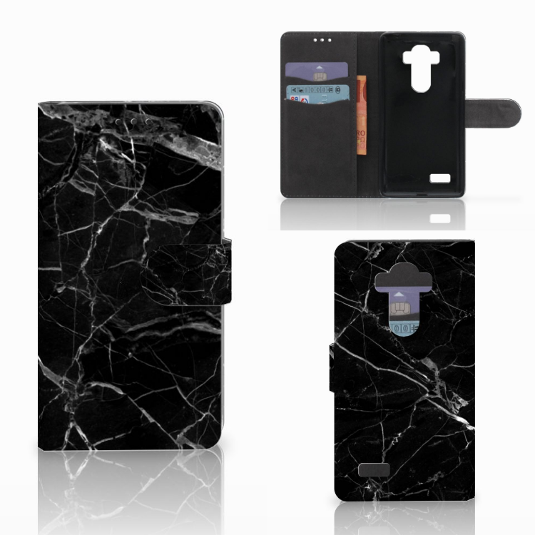 LG G4 Bookcase Marmer Zwart - Origineel Cadeau Vader