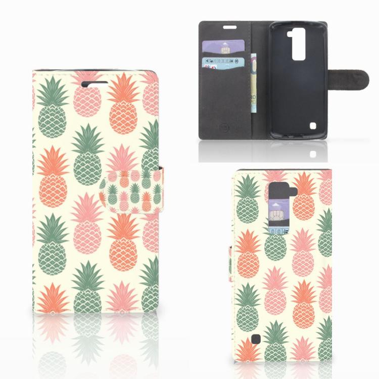LG K10 2015 Book Cover Ananas