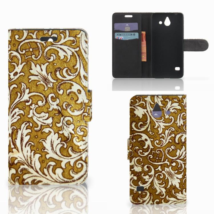 Wallet Case Huawei Ascend Y550 Barok Goud