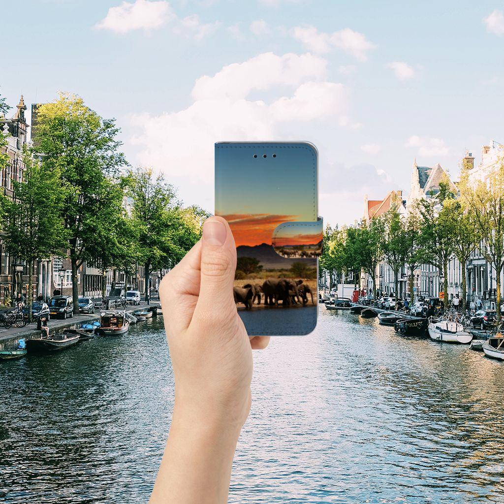 Microsoft Lumia 550 Telefoonhoesje met Pasjes Olifanten