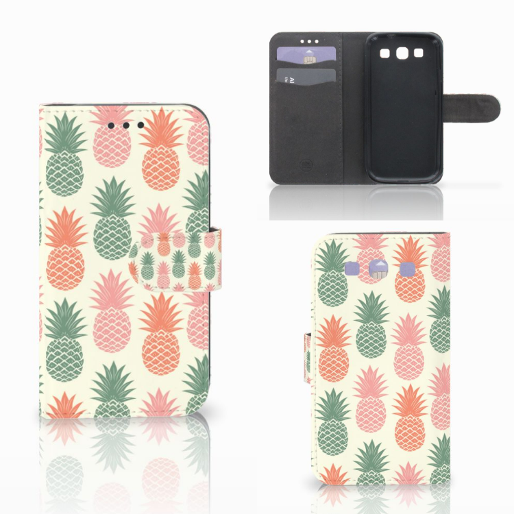 Samsung Galaxy S3 i9300 Book Cover Ananas