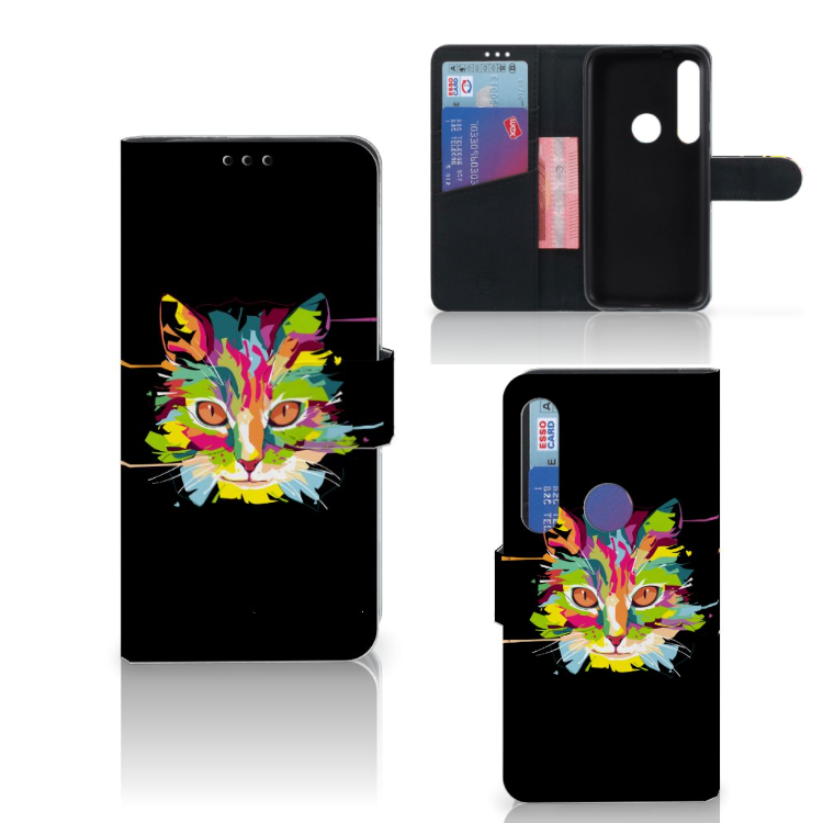 Motorola Moto G8 Plus Leuk Hoesje Cat Color
