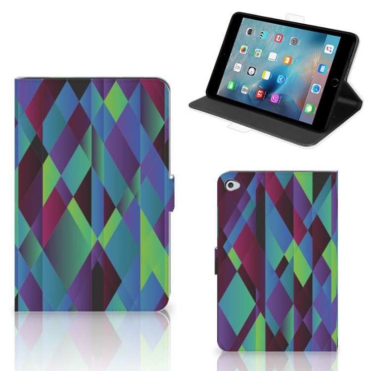 Apple iPad Mini 5 Tablet Beschermhoes Abstract Green Blue