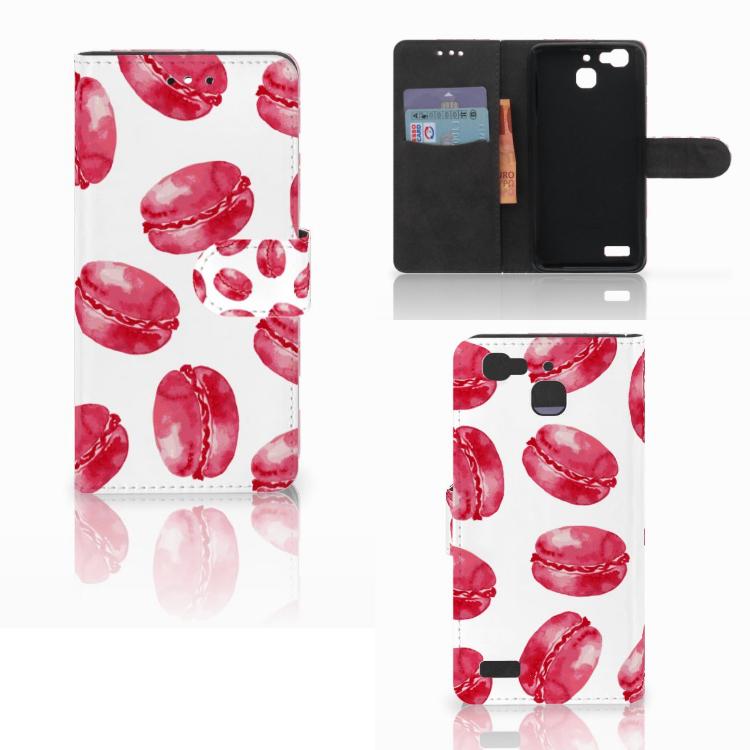 Huawei P8 Lite Smart (GR3) Book Cover Pink Macarons