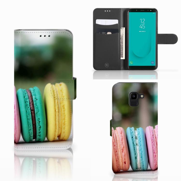 Samsung Galaxy J6 2018 Book Cover Macarons