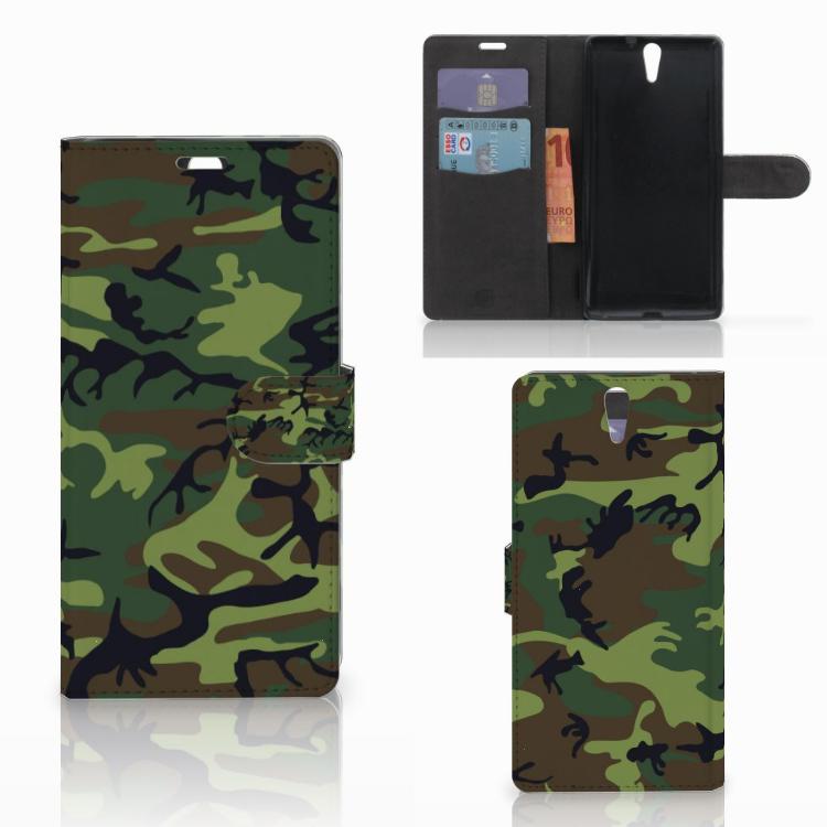 Sony Xperia C5 Ultra Telefoon Hoesje Army Dark