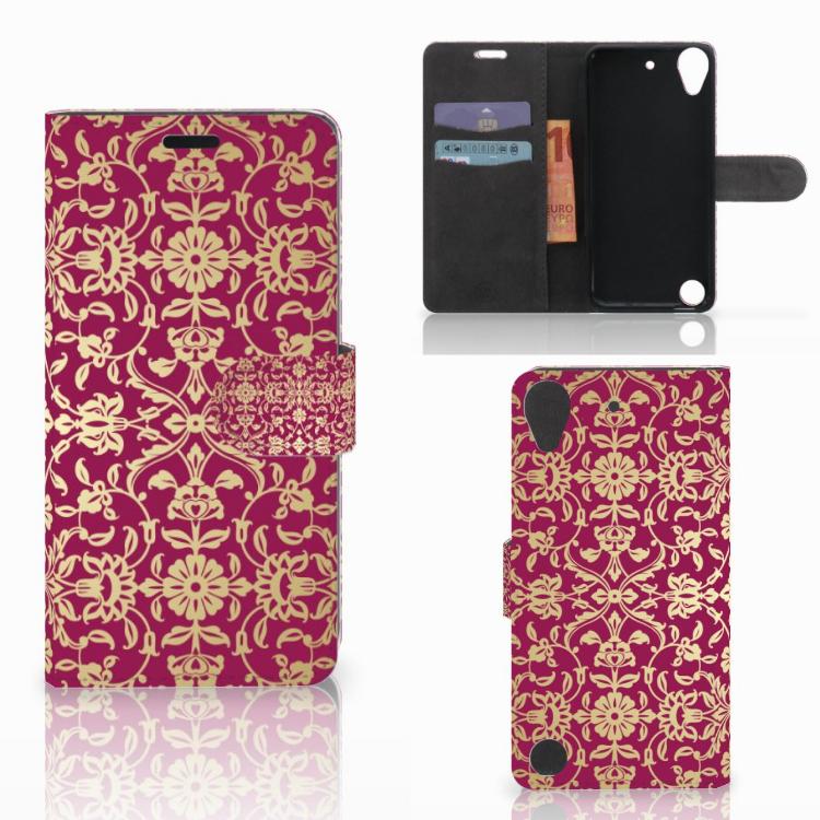 Wallet Case HTC Desire 530 Barok Pink