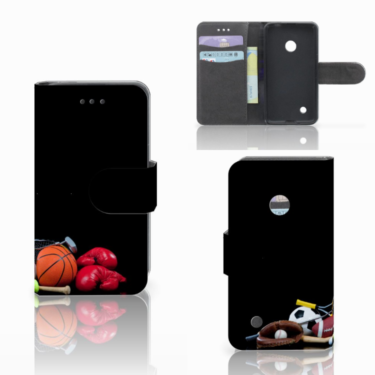 Nokia Lumia 530 Uniek Boekhoesje Opbergvakjes Sport