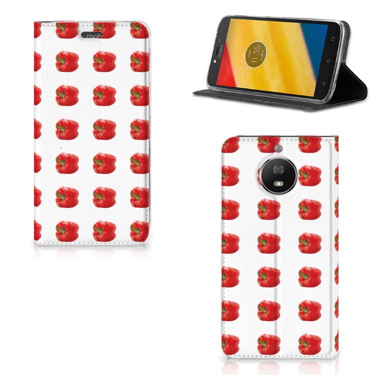 Motorola Moto G5S Flip Style Cover Paprika Red