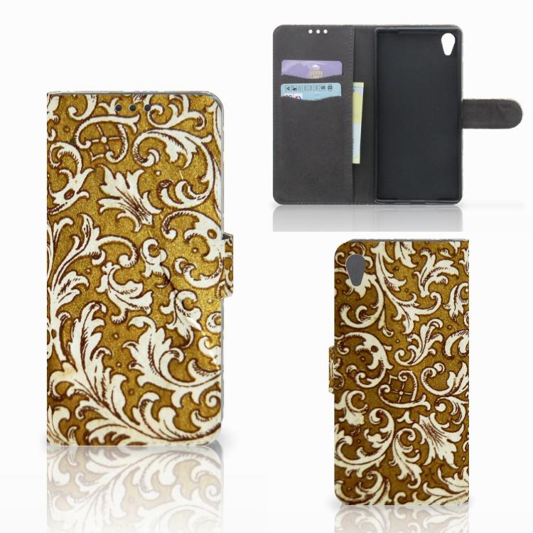 Wallet Case Sony Xperia Z5 Premium Barok Goud