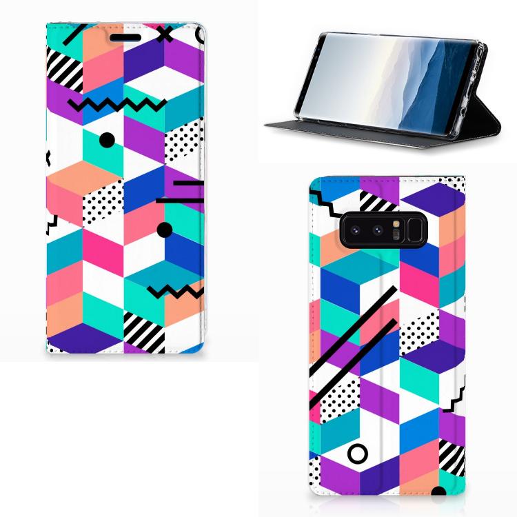 Samsung Galaxy Note 8 Stand Case Blokken Kleurrijk