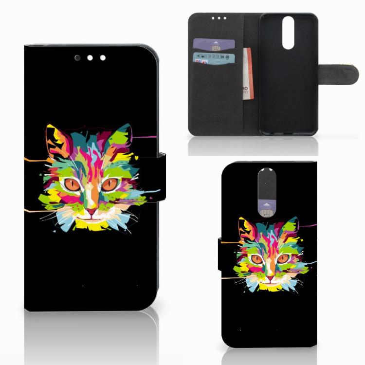 Huawei Mate 10 Lite Leuk Hoesje Cat Color