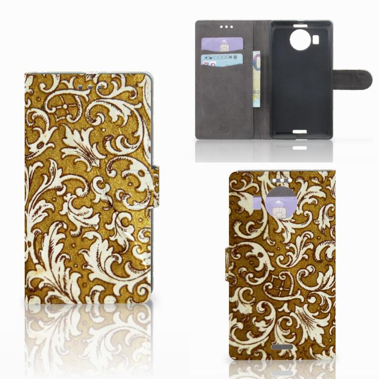 Wallet Case Microsoft Lumia 950 XL Barok Goud