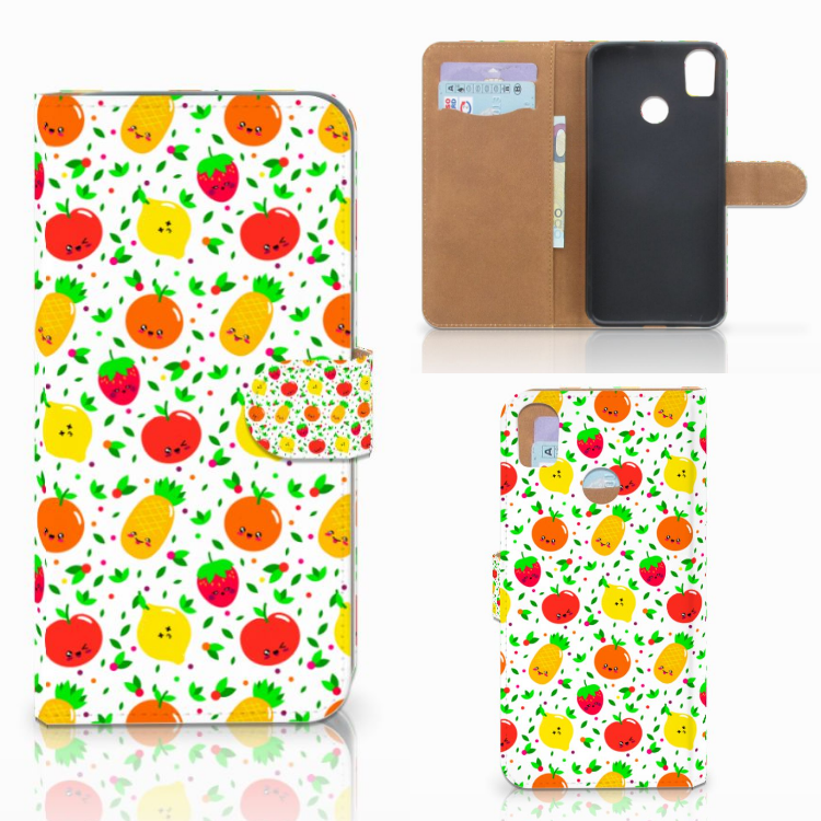 HTC Desire 10 Pro Book Cover Fruits
