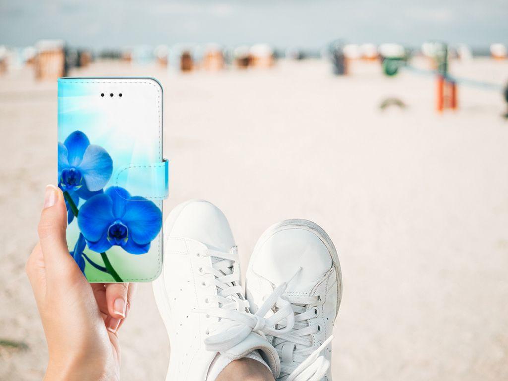 Apple iPhone X   Xs Boekhoesje Design Orchidee Blauw