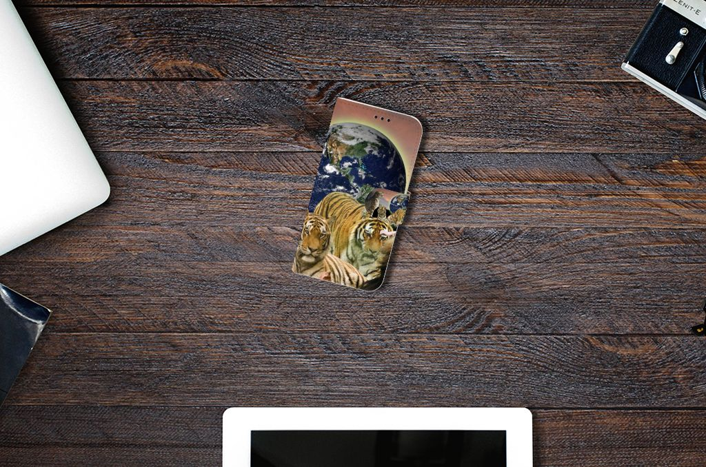 Samsung Galaxy A5 2017 Telefoonhoesje met Pasjes Roofdieren