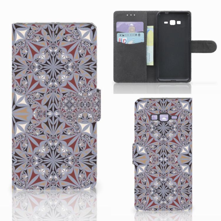 Samsung Galaxy Grand Prime | Grand Prime VE G531F Bookcase Flower Tiles