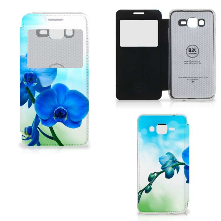 Samsung Galaxy Grand Prime Hoesje Orchidee Blauw - Cadeau voor je Moeder