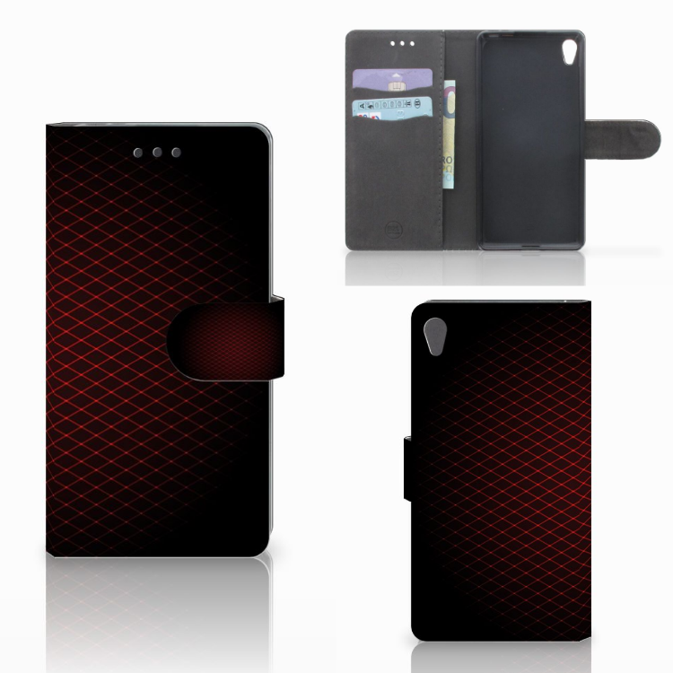 Sony Xperia E5 Telefoon Hoesje Geruit Rood